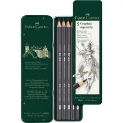 Set 5 Buc Creion Grafit Aquarelle Faber-Castell