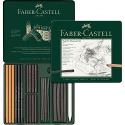 Set Pitt Monochrome Carbune 24 Buc Faber-Castell