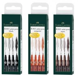 Pitt Artist Pen Set 4 buc Faber-Castell