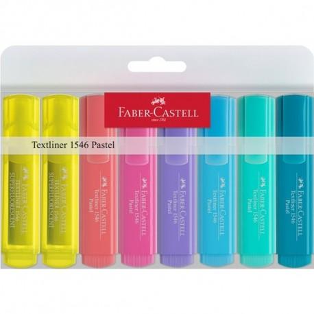 Textmarker Set 8 (6 Pastel + 2 Galben) 1546 Faber-Castell