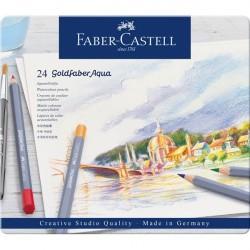 Creioane Colorate Aquarelle 12 Culori Goldfaber Cutie Metal Faber-Castell